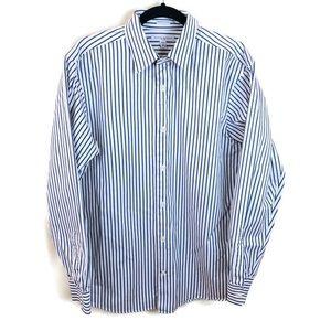 Banana Republic Striped Fitted Shirt Sz L 16